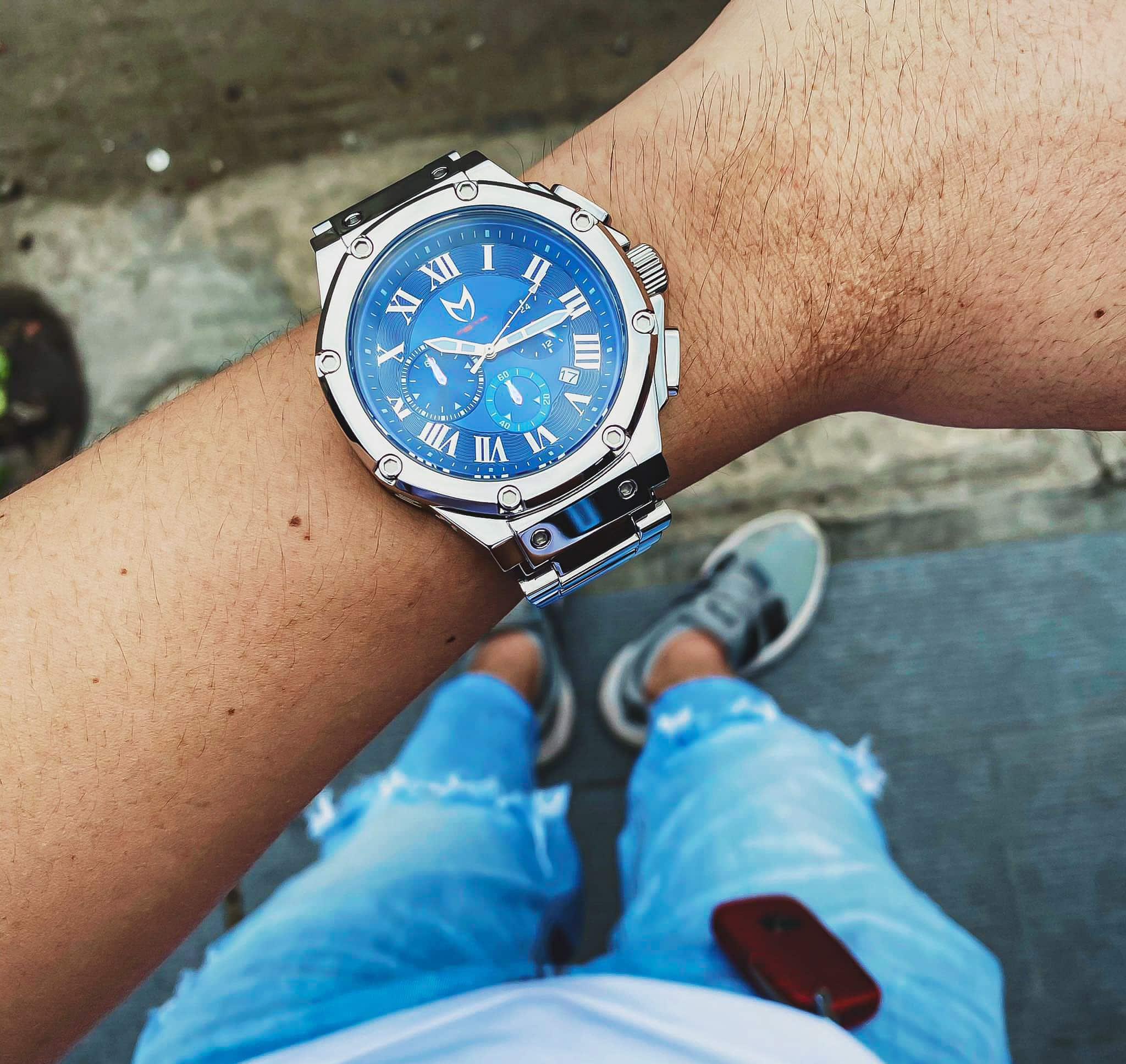 Silber & Blau