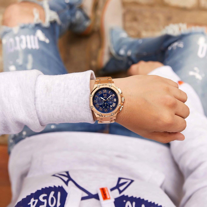 Rosengold & Blau