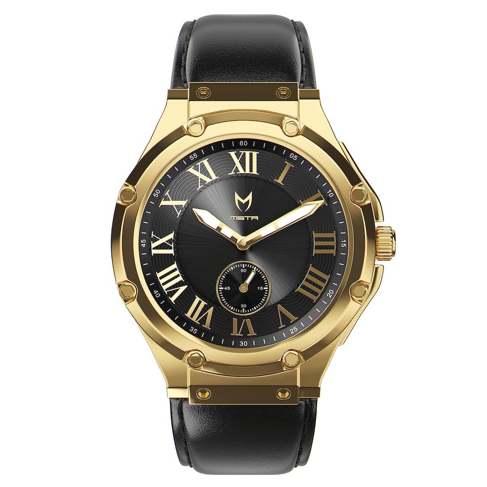 Gold & Schwarz - Leder