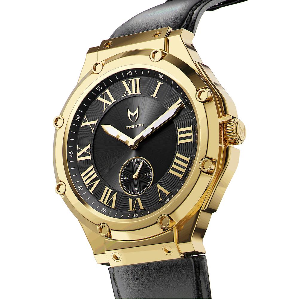 Gold & Schwarz – Leder