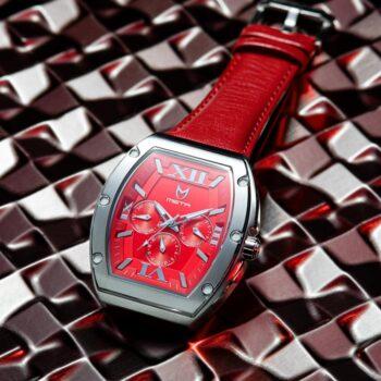 Silber & Rot - Leder