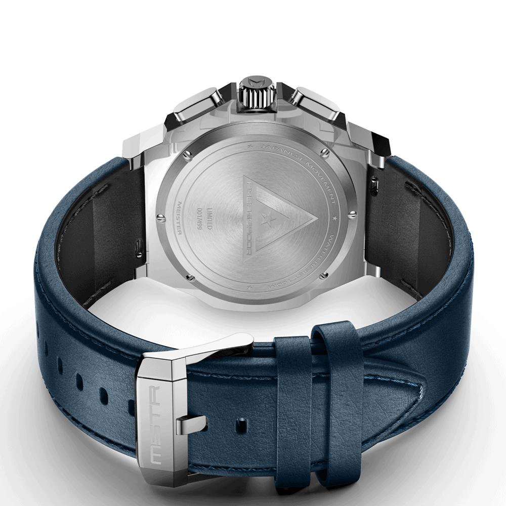 Silber & Blau - Leder